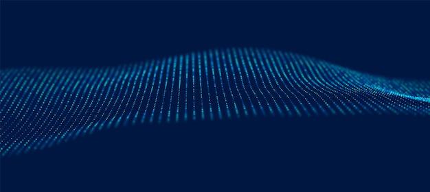 Abstrakter blauer partikelhintergrund musterpunktvisualisierung technologievektorillustration
