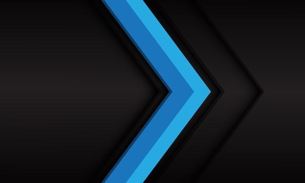 Abstrakter blauer pfeil mit leerraumentwurf