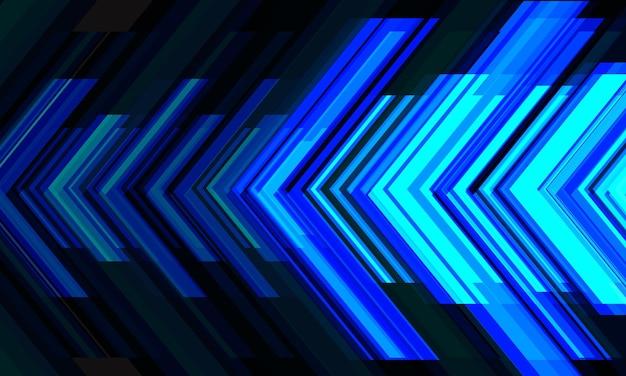 Abstrakter blauer pfeillichtrichtungstechnologie futuristisches design kreativer hintergrundvektor