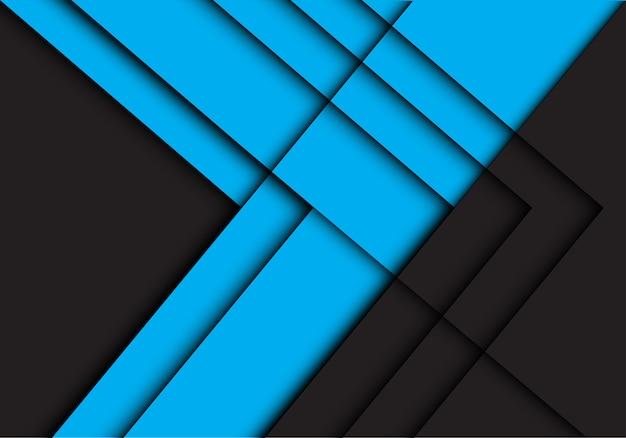 Abstrakter blauer schwarzer linie pfeilschattenrichtungshintergrund.