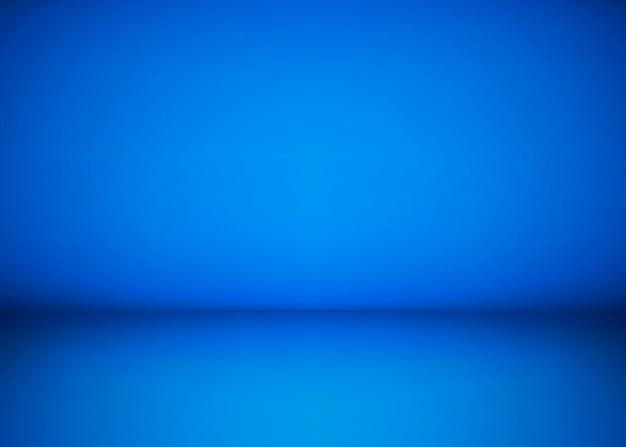 Abstrakter blauer studio-werkstatthintergrund. vorlage von rauminnenraum, boden und wand. fotowerkstattraum. illustration