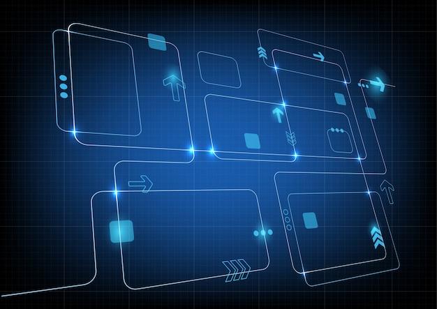 Abstrakter blauer technologiehintergrund