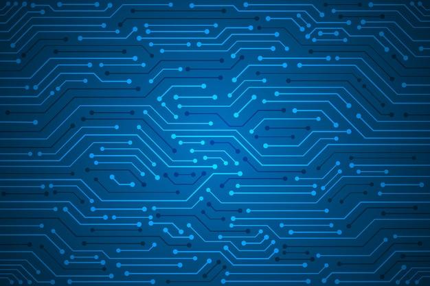 Abstrakter blauer technologieleiterplattenmusterhintergrund