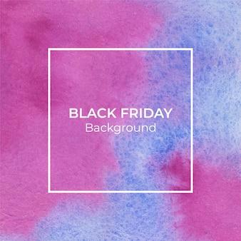 Abstrakter blauer und magentafarbener schwarzer freitag-aquarellbeschaffenheitshintergrund