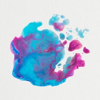 Abstrakter blauer und rosa aquarellspritzenvektor