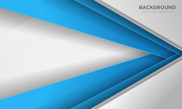 Abstrakter blauer und weißer überlappungshintergrund.