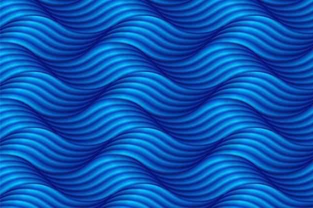 Abstrakter blauer wellenhintergrund in der asiatischen art.