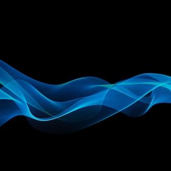 Abstrakter blauer wellenhintergrund