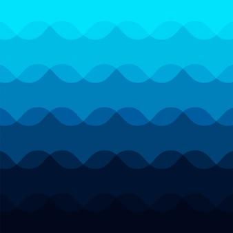 Abstrakter blauer wellenmusterhintergrund
