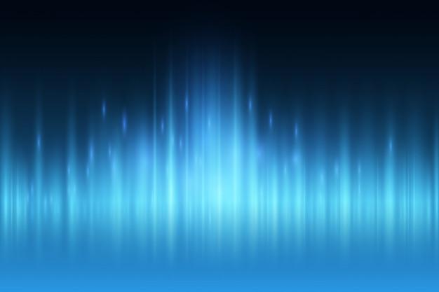 Abstrakter blaulichtstrahl-wandhintergrund.