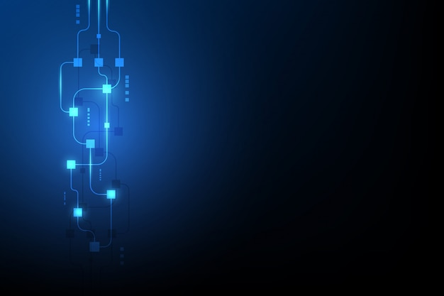 Abstrakter blockchain hintergrund der kreisläufvernetzung