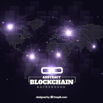 Abstrakter blockchain hintergrund