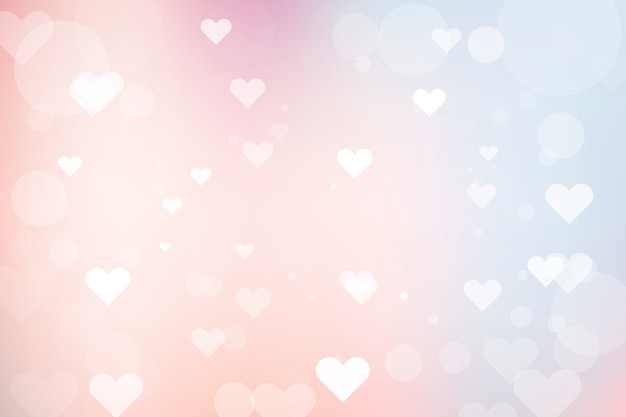 Abstrakter bokeh hintergrund mit innerem für valentinstag