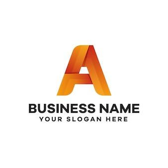 Abstrakter buchstabe a farbverlauf logo-design