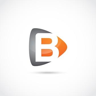 Abstrakter buchstabe b logo design