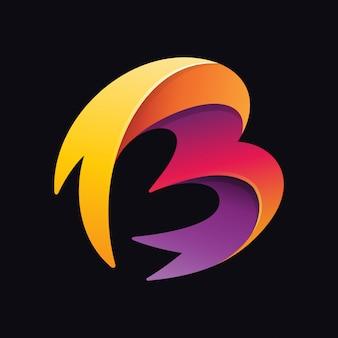 Abstrakter buchstabe b logo