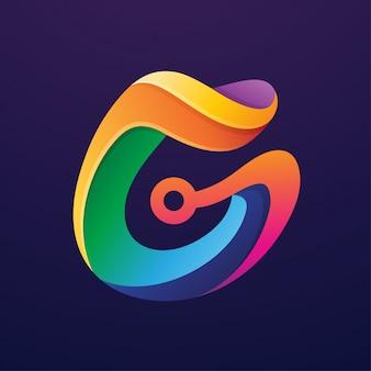 Abstrakter buchstabe g logo