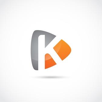 Abstrakter buchstabe k logo design
