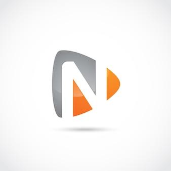 Abstrakter buchstabe n logo design