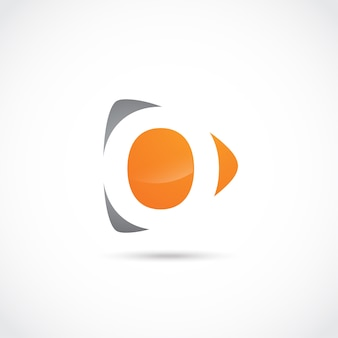 Abstrakter buchstabe o logo design