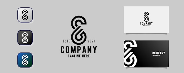 Abstrakter buchstabe s6 modernes logo