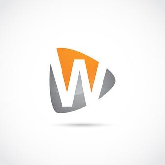 Abstrakter buchstabe w logo design