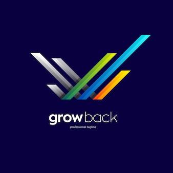 Abstrakter buchstabe w logo-design