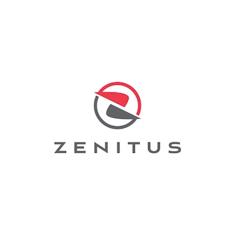 Abstrakter buchstabe z logo template
