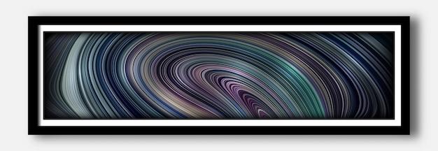 Abstrakter bunter 3d fließen und flüssige wellenkunstillustrationshintergrund