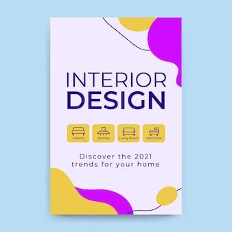 Abstrakter bunter design-blogbeitrag
