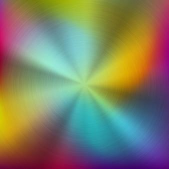 Abstrakter bunter farbverlaufstechnologiehintergrund des metalls