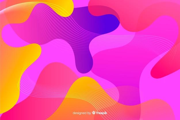 Abstrakter bunter flüssiger formhintergrund