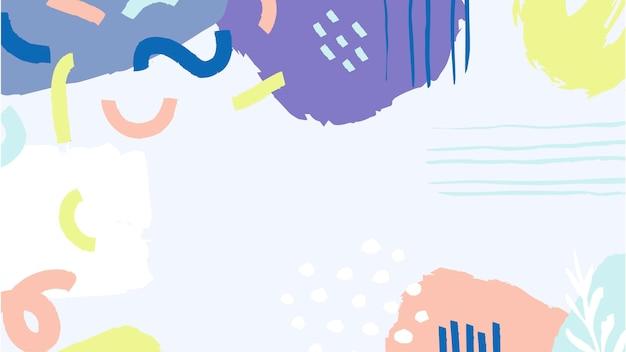 Abstrakter bunter gemalter fleckhintergrund