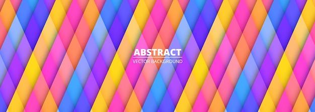 Abstrakter bunter geometrischer hintergrund mehrfarbige breite horizontale fahnenschablone