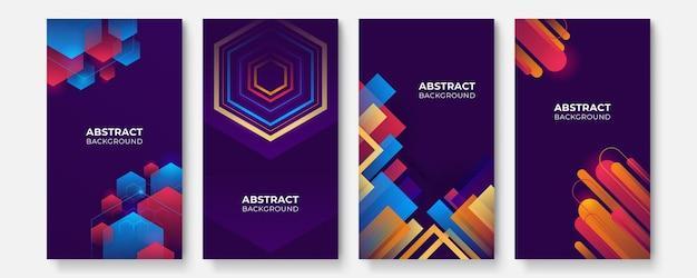 Abstrakter bunter geometrischer hintergrund