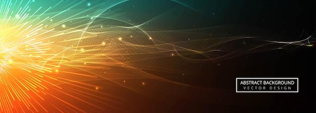 Abstrakter bunter glühender wellenhintergrundvektor
