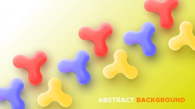 Abstrakter bunter hintergrund mit fließenden formen. illustration.