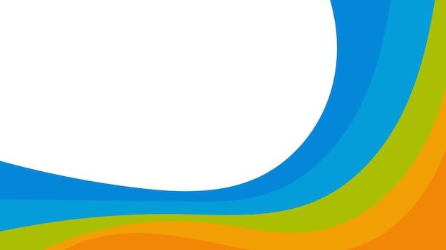 Abstrakter bunter hintergrund von farbwellen. vorlage für flyer, cover oder banner