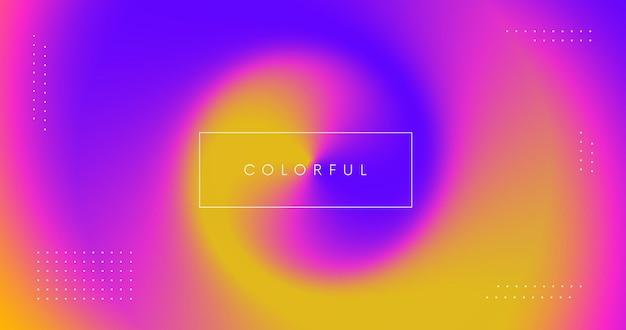 Abstrakter bunter moderner hintergrund. farbspritzer abbildung. glatte schillernde farbverlaufskulisse.