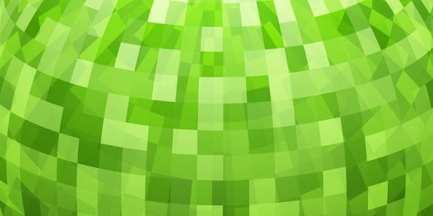 Abstrakter bunter mosaikhintergrund als teil der kugel, in grünen farben