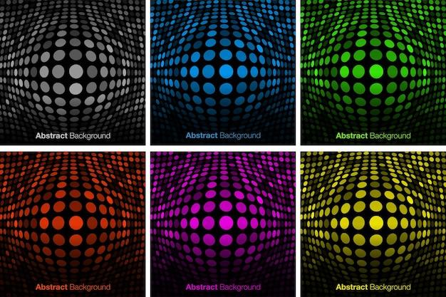 Abstrakter bunter technologiehintergrundsatz bulgy-glühhintergrund konvexer leuchtender rand vector