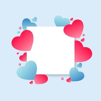 Abstrakter bunter valentinstag