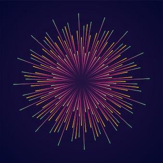 Abstrakter burst-effekt mit radialen linien.