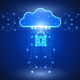 Abstrakter cloud-technologie-hintergrund im internet-netzwerk. wissenschaft, futuristisch, web, netzwerkkonzept. eps 10