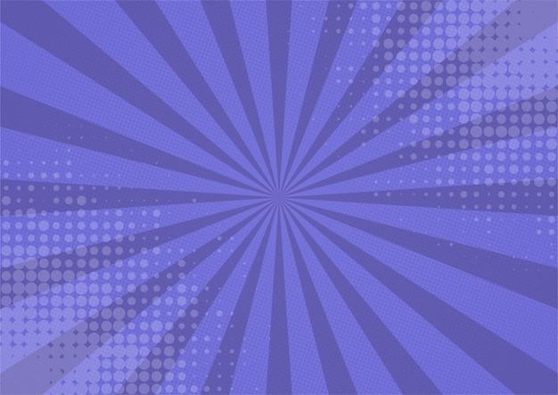 Abstrakter comic lila hintergrund cartoon-stil. sonnenlicht.
