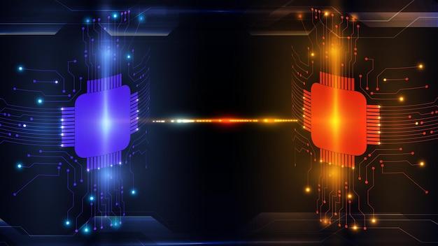 Abstrakter computer-mikroprozessor-platine-vektorhintergrund. eps 10.