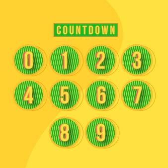 Abstrakter countdown-zahlenentwurf
