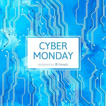 Abstrakter cyber-montag-verkaufshintergrund