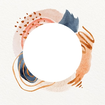 Abstrakter dekorativer aquarellrahmen