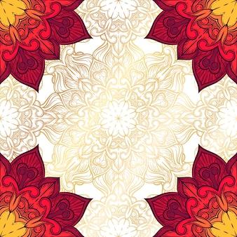 Abstrakter dekorativer hintergrund. ornament mit mosaikelementen.